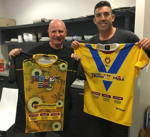 JERSEY DAY Peter Sterling and Braith Anasta