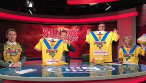 JERSEY DAY Sunday Footy Show Brad Fitler Andrew Johns