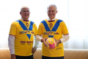 JERSEY DAY Malcolm Turnbull and Ken Wyatt