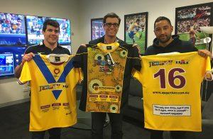 JERSEY DAY NRL 360 Foxtel - Michael Ennis, Ben Ikin and Benji Marshall