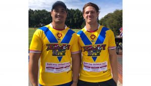 JERSEY DAY Sione Mata'utia and Kalyn Ponga