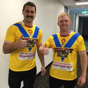 JERSEY DAY Regan Campbell Gillard and Peter Wallace