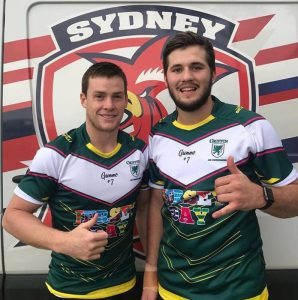 JERSEY DAY Sydney Roosters players Luke Keary and Josh Curran