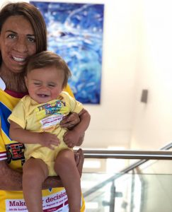 JERSEY DAY Turia Pitt with Hakavai