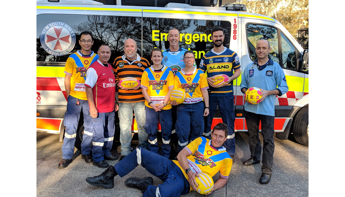 NSW Ambulence Jersey Day jerseys