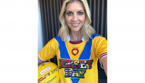 Catherine Cox in Jersey Day jersey
